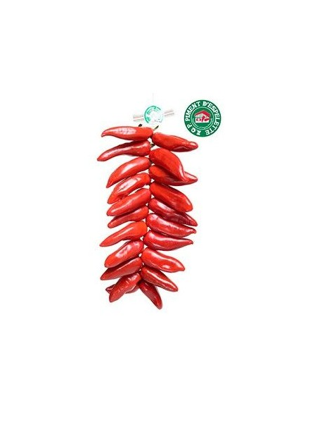 Corde de piments d Espelette frais AOP