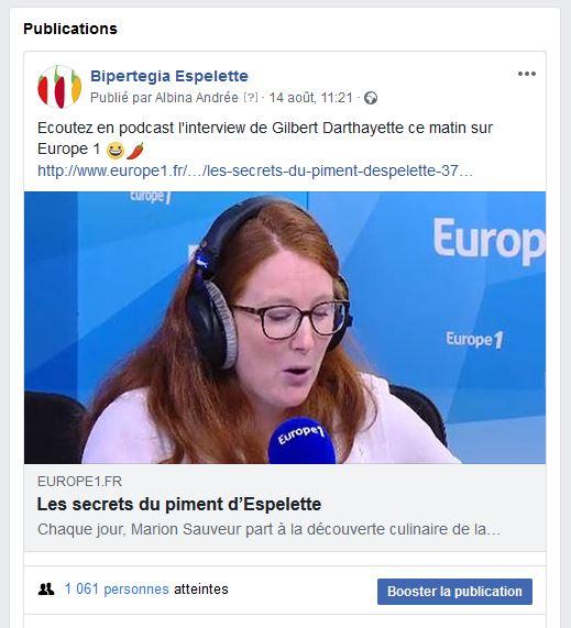 Bipertegia sur Europe 1