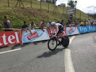 Arrivee Tour de France Espelette