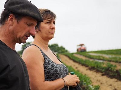Véronique et Gilbert Darthayette producteurs à Espelette