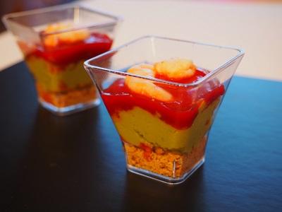 Verrine avocat, délice de piment doux - Bipertegia