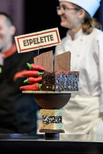 Gateau chocolat et piment d'Espelette - Concours des patissiers
